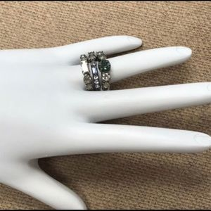 Sorrelli Jewelry - Triple Band Sorrelli Crystal Ring, Nwt